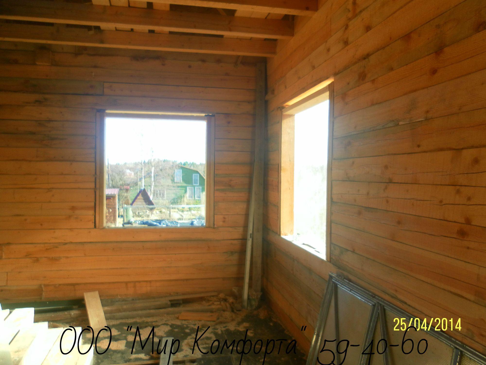 Правильная установка окон и дверей в деревянном доме 59
